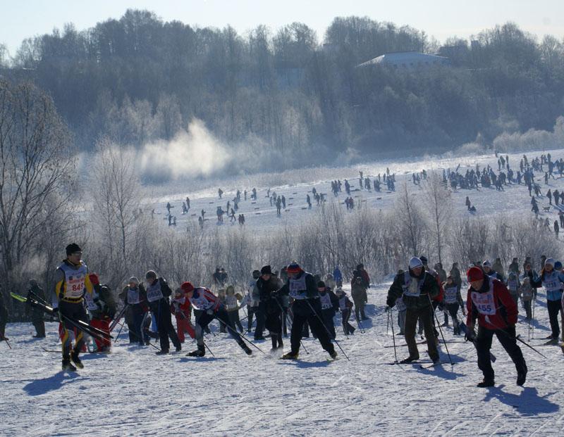 Московская Лыжня 2010. Подъём