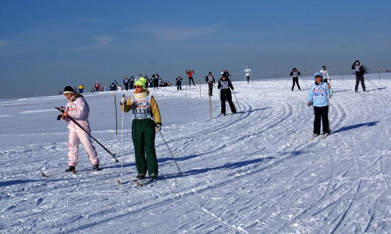 Московская Лыжня 2010. Первые километры