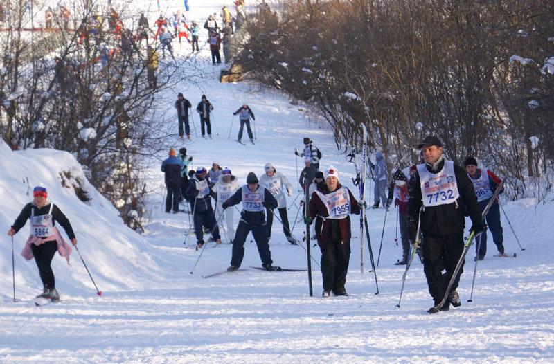 Московская Лыжня 2010. В гору