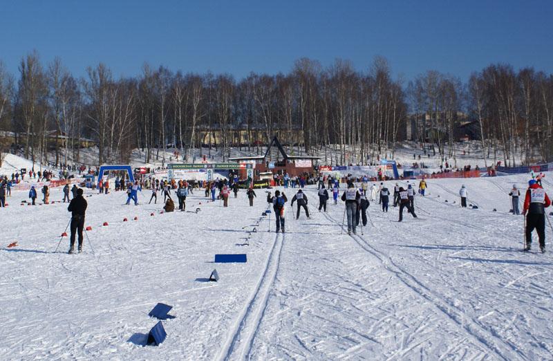 Московская Лыжня 2010. Финишная прямая