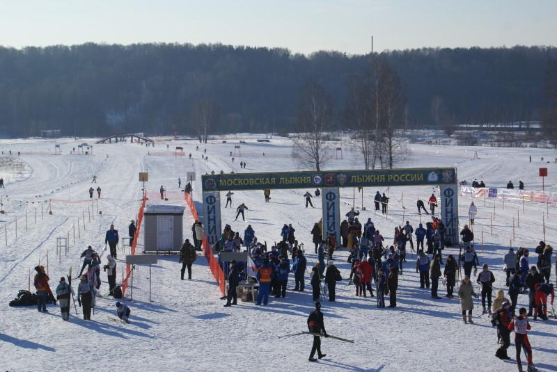 Московская Лыжня 2010. Финиш