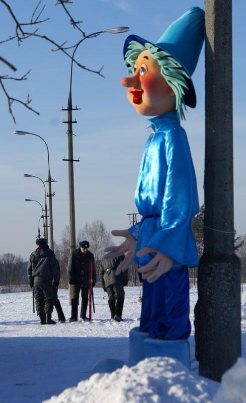 Московская Лыжня 2010. Синее и серое