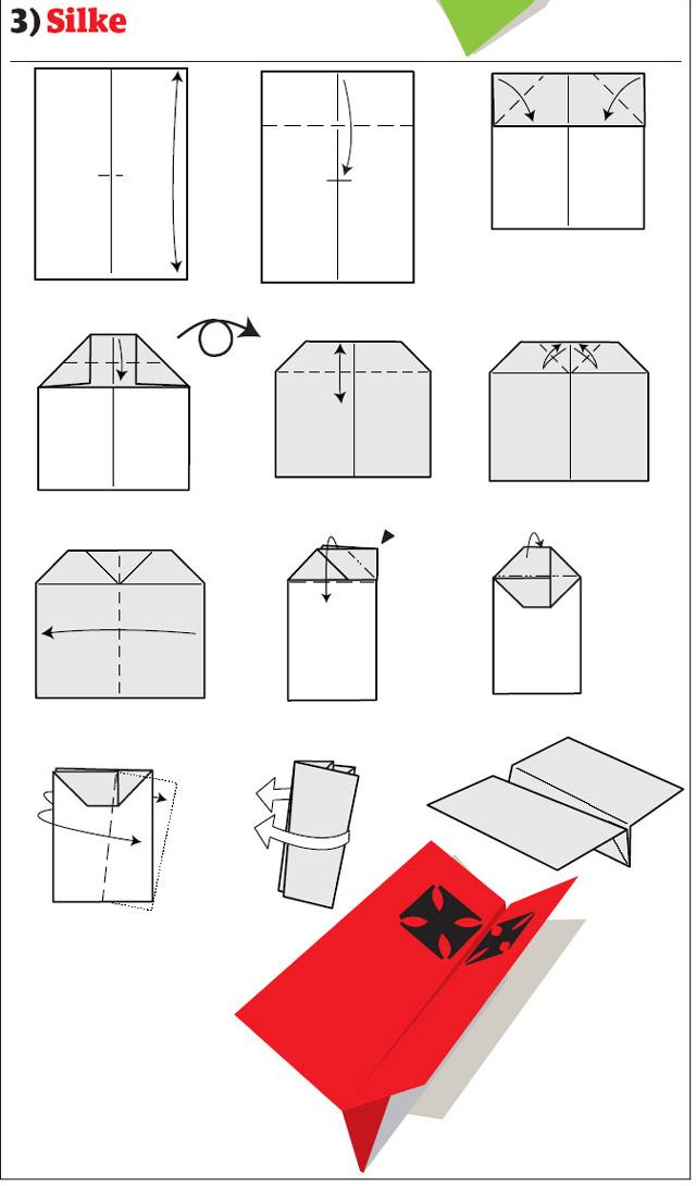 Как сделать поделки из бумаги самолет